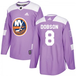 Authentic Adidas Youth Noah Dobson Purple Fights Cancer Practice Jersey - NHL New York Islanders
